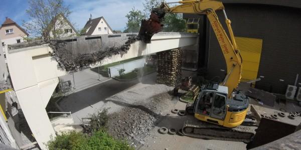 VIDEO Brückenabbruch in Freudenstadt